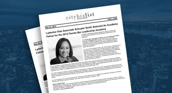 Picture of photo cover of article= City-Biz-List-Lydecker-Diaz-Associate-Smith-05-15-13