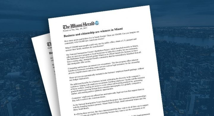 Picture of photo cover of article= Miami Herald Business Citizenship Manny Diaz 05-09-13