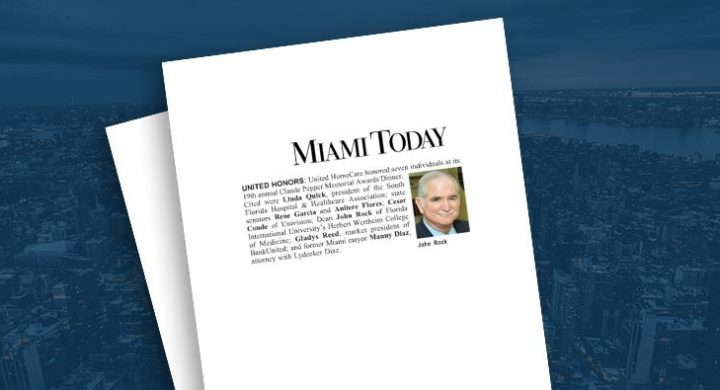 Picture of photo cover of article= Miami Today United Homecare Manny Diaz 07-03-13