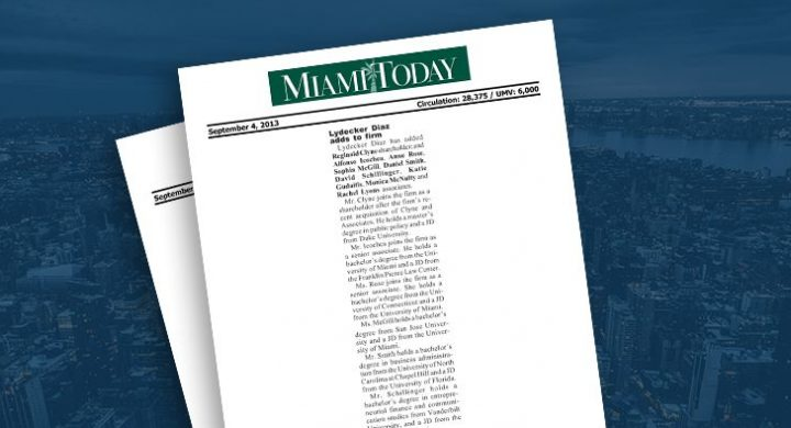Picture of photo cover of article= Miami Today Diaz