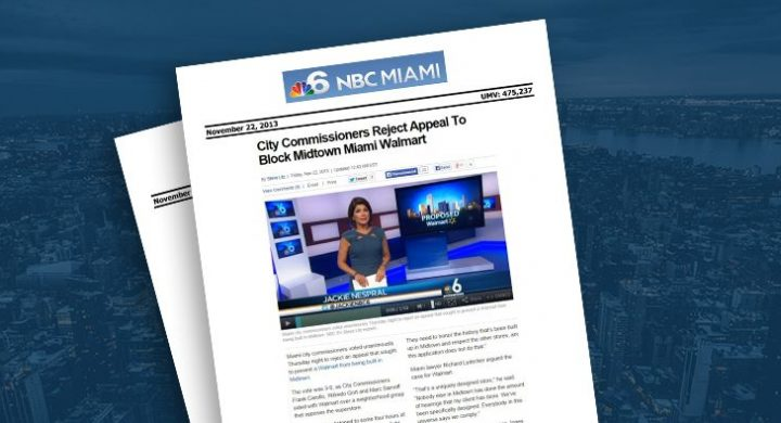 Picture of photo cover of article= NBC miami city commissioners Walmart (1)