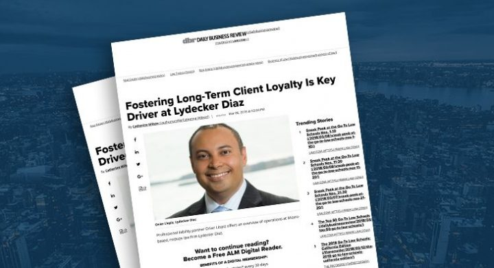 Picture of photo cover of article= Fostering Long-term client loyalty is key driver at Lydecker Diaz