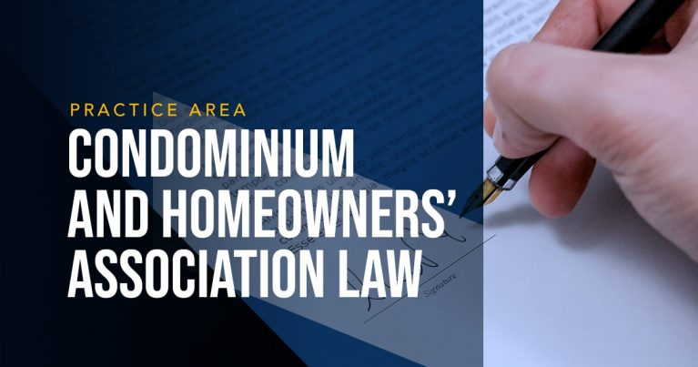 LYDECKER - Condominium and Homeowners' Association Law